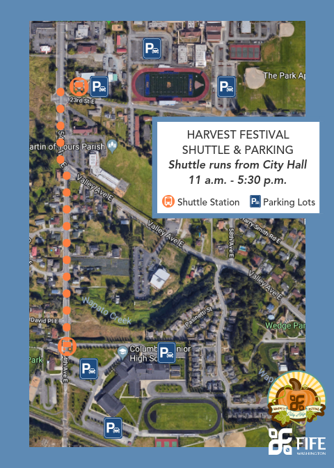 2019 Harvest Festival Shuttle Map