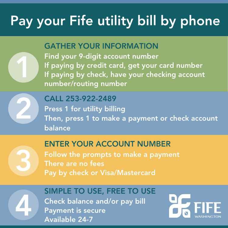 Utility bill pay by phone