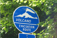 Lahar Evacuation Routes and Volcanic Hazard Area