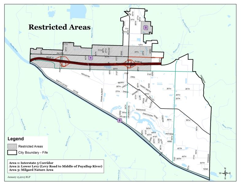Restricted Areas Map (PDF) Opens in new window